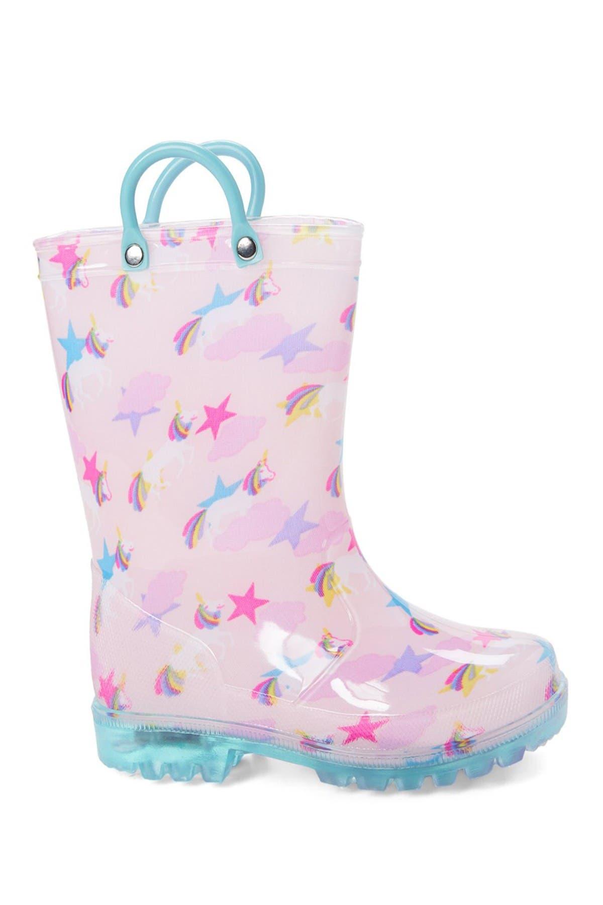 Unicorn LED Light Up Rain Boot