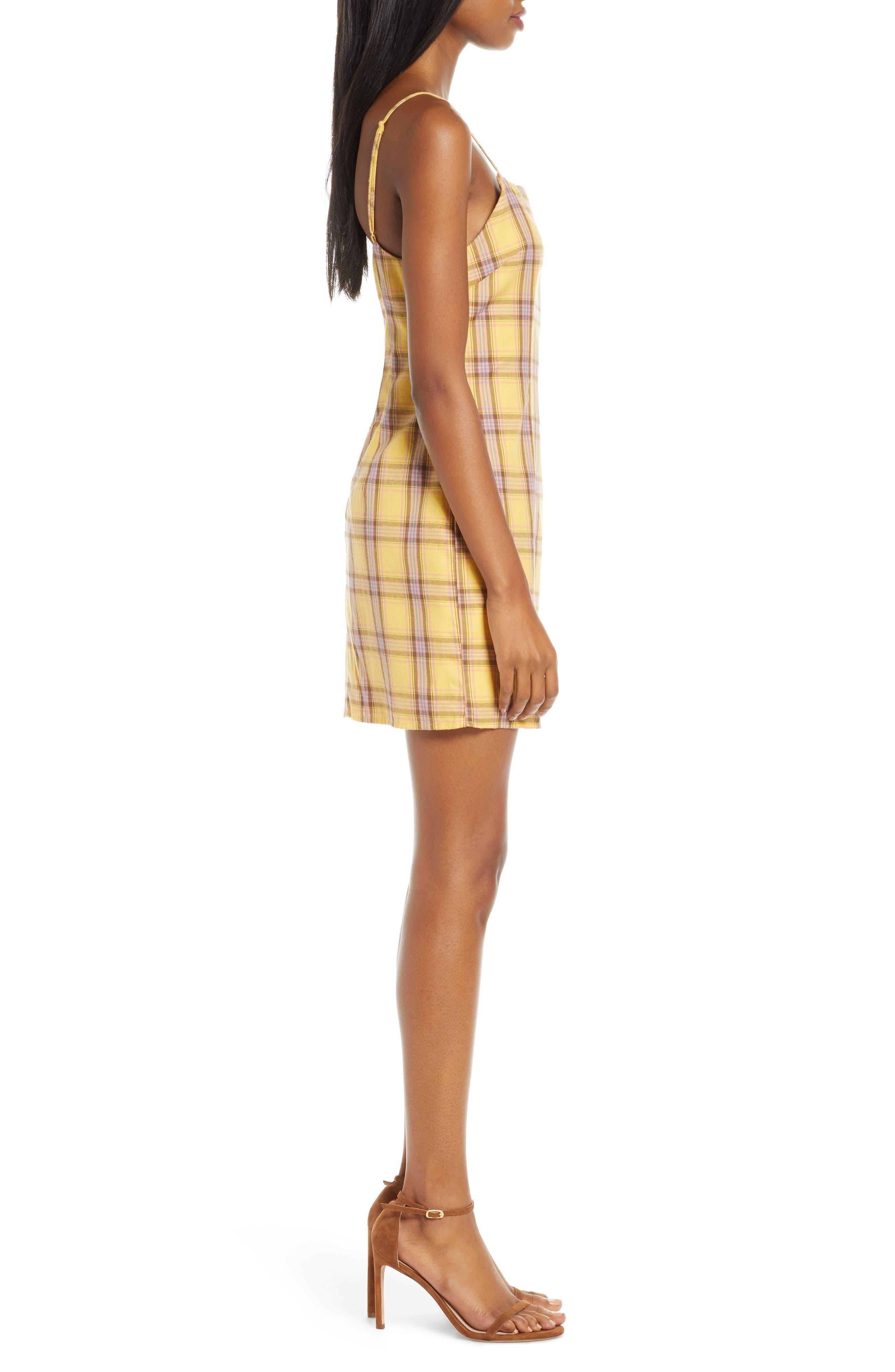 Bb Dakota Dresses Sleeveless Plaid Minidress