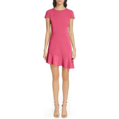 Alice + Olivia Fable Asymmetrical Ruffle Dress, Pink