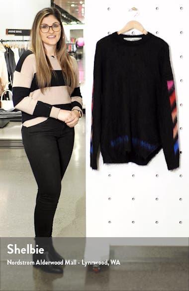 Diagonal Slim Fit Mohair Blend Sweater, sales video thumbnail