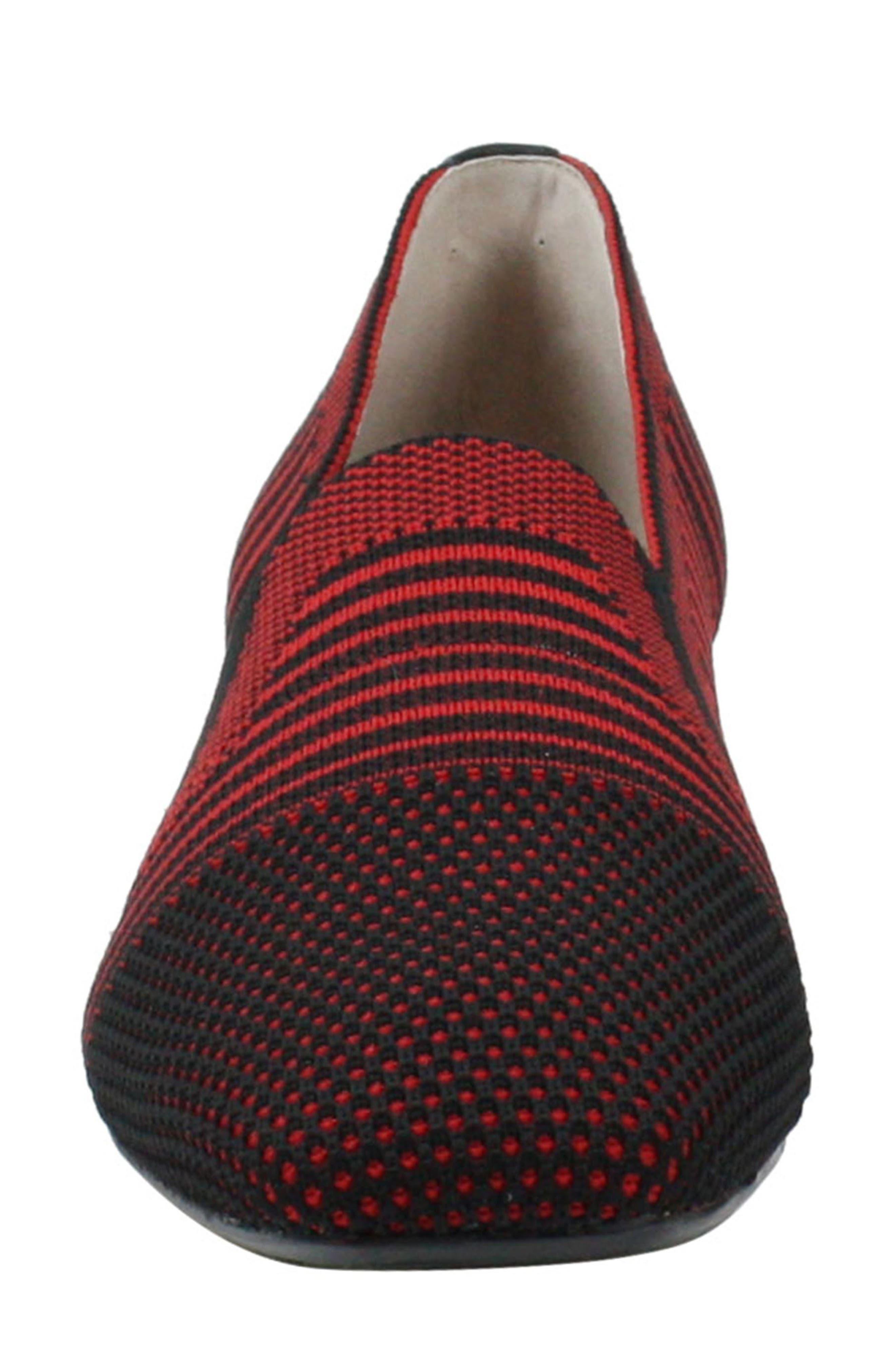 ,                             Martyne Smoking Slipper,                             Alternate thumbnail 4, color,                             RED/ BLACK