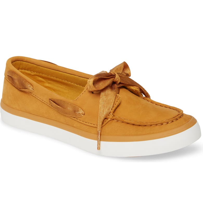 SPERRY Sailor Boat Shoe, Main, color, MUSTARD LEATHER
