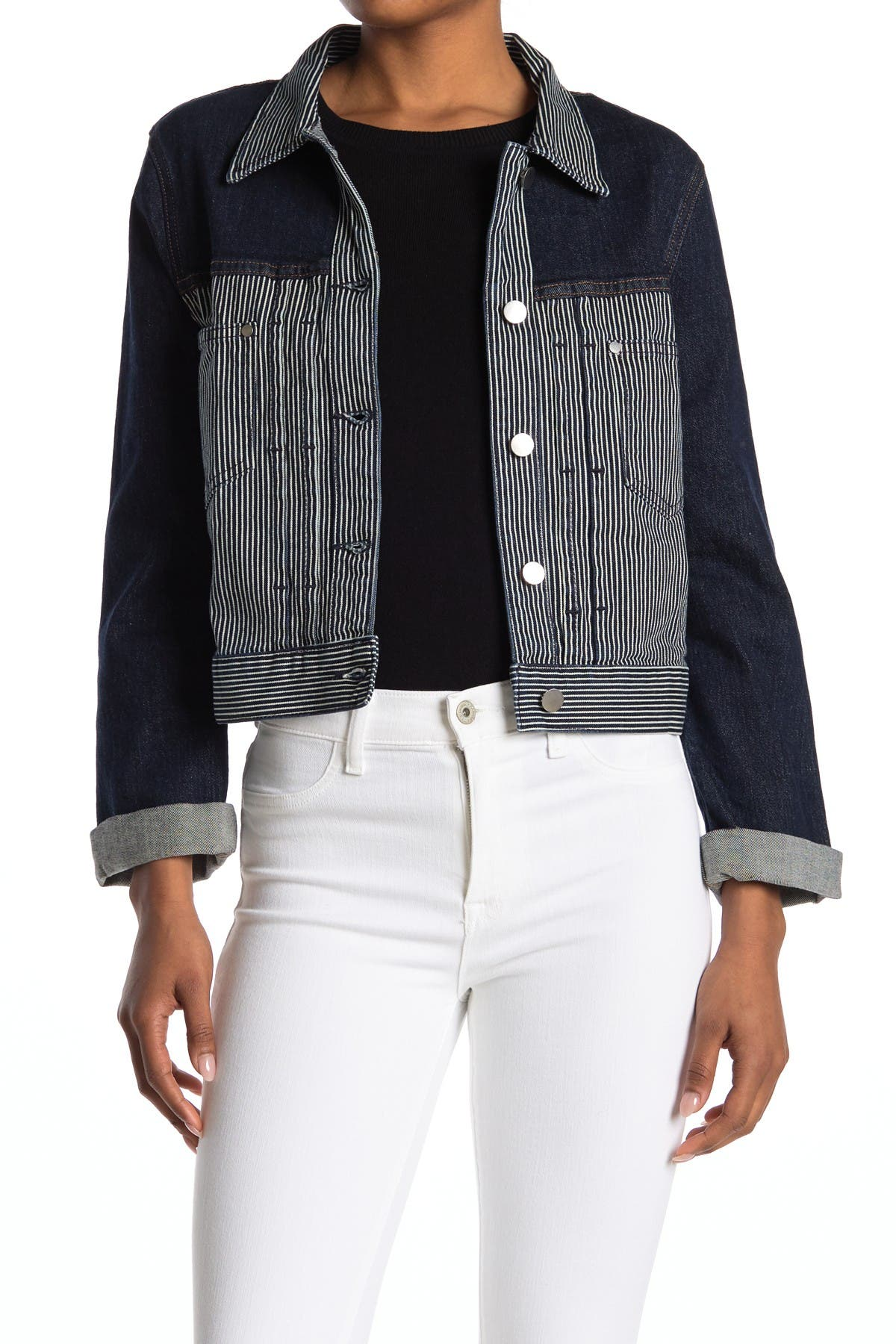 Image of BALDWIN Leon Colorblock Denim Jacket