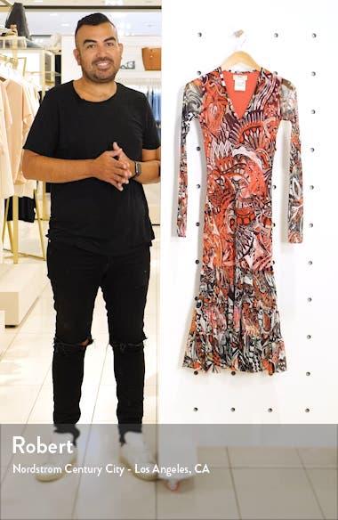 Mystical Print Long Sleeve Midi Dress, sales video thumbnail