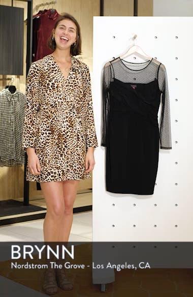 Cross Front Dot Mesh Detail Dress, sales video thumbnail