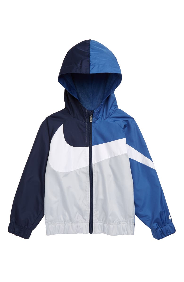 NIKE Oversize Windrunner Hooded Jacket, Main, color, MOUNTAIN BLUE
