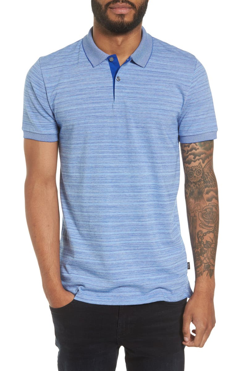 BOSS Phillipson Flame Slim Fit Polo, Main, color, 463