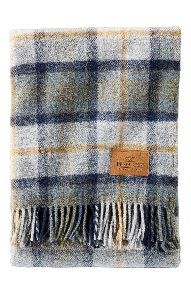 PENDLETON Carry Along Plaid Throw Blanket, Main, color, MOSLER