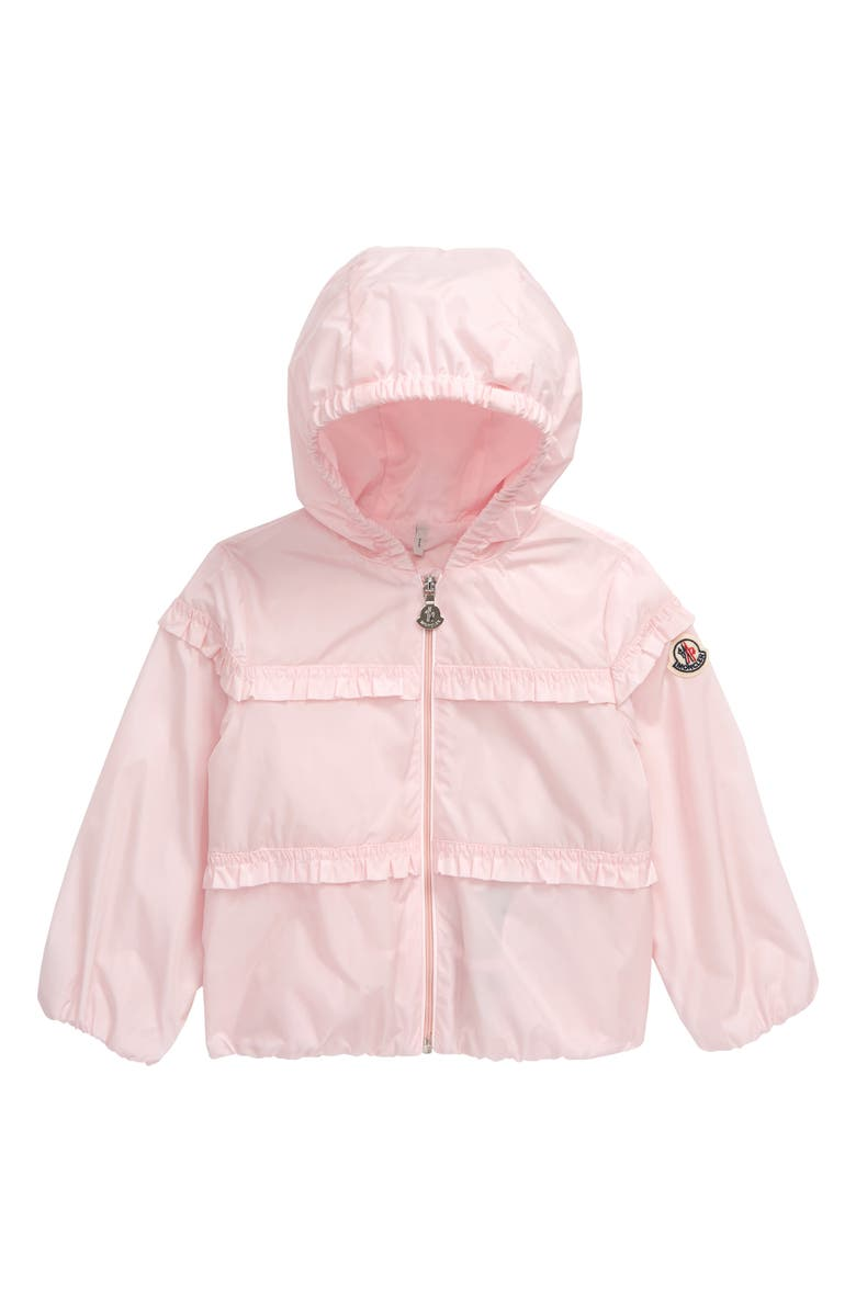 MONCLER Hiti Water Repellent Nylon Windbreaker Jacket, Main, color, LIGHT PINK