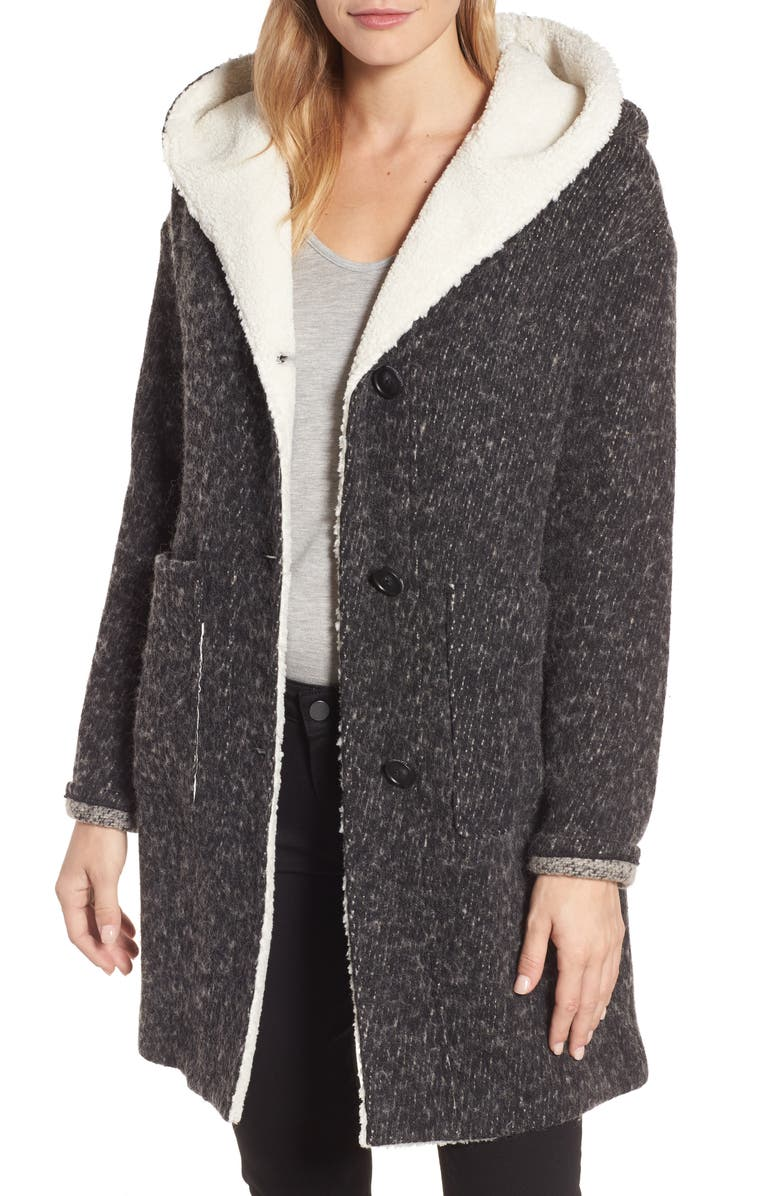 LUCKY BRAND Hooded Coat, Main, color, 038