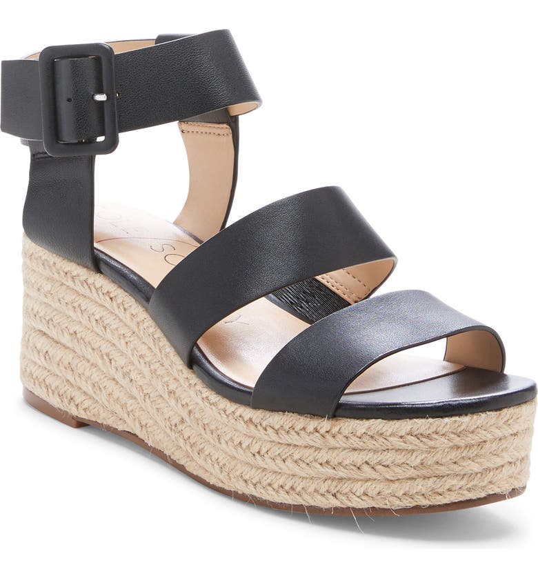 SOLE SOCIETY Anisa Espadrille Wedge Sandal, Main, color, 001