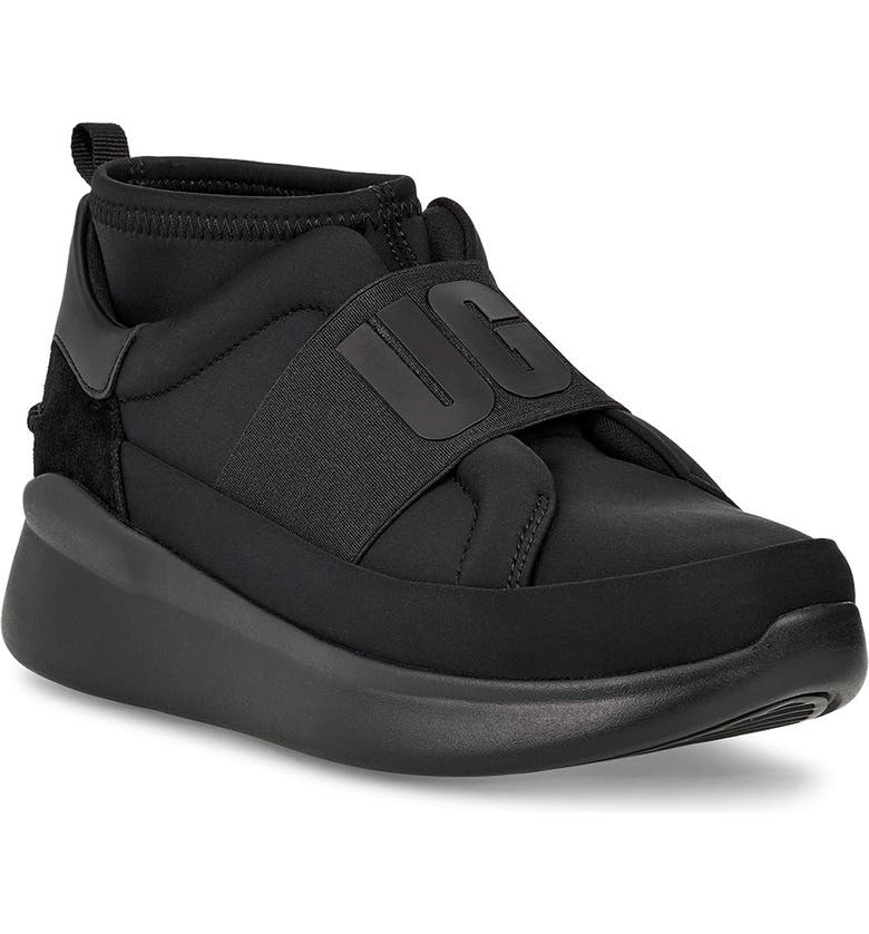 UGG<SUP>®</SUP> Neutra Sock Sneaker, Main, color, BLACK/ BLACK LEATHER