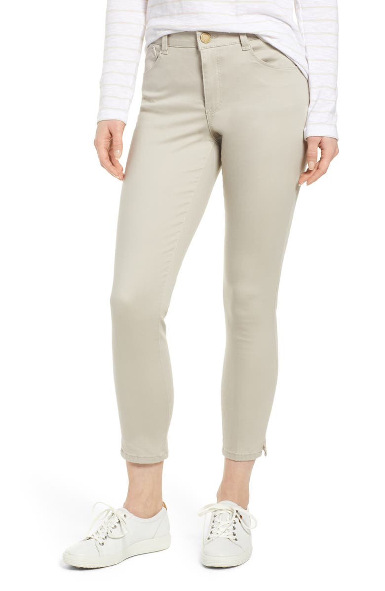 WIT & WISDOM Ab-Solution High Waist Ankle Skinny Pants, Main, color, FLAX