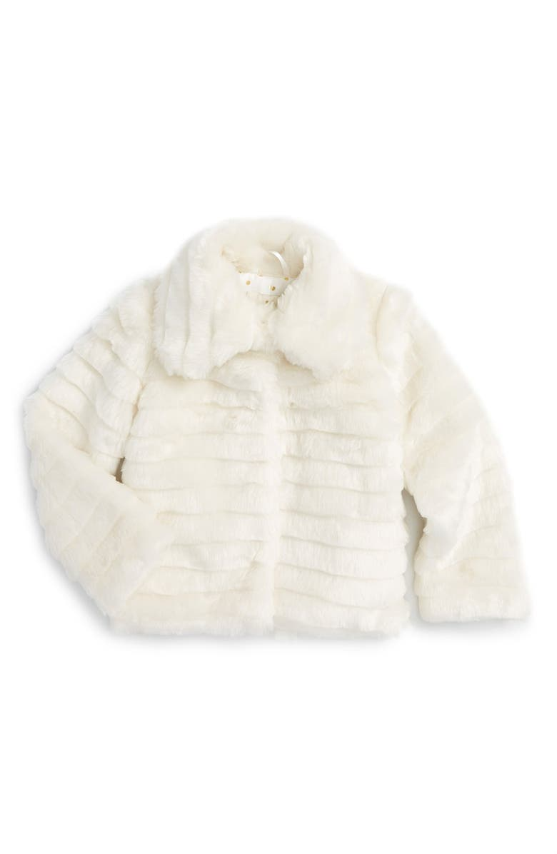 fb9f50e91e8f kate spade new york kids faux fur jacket (Big Girls)   Nordstrom