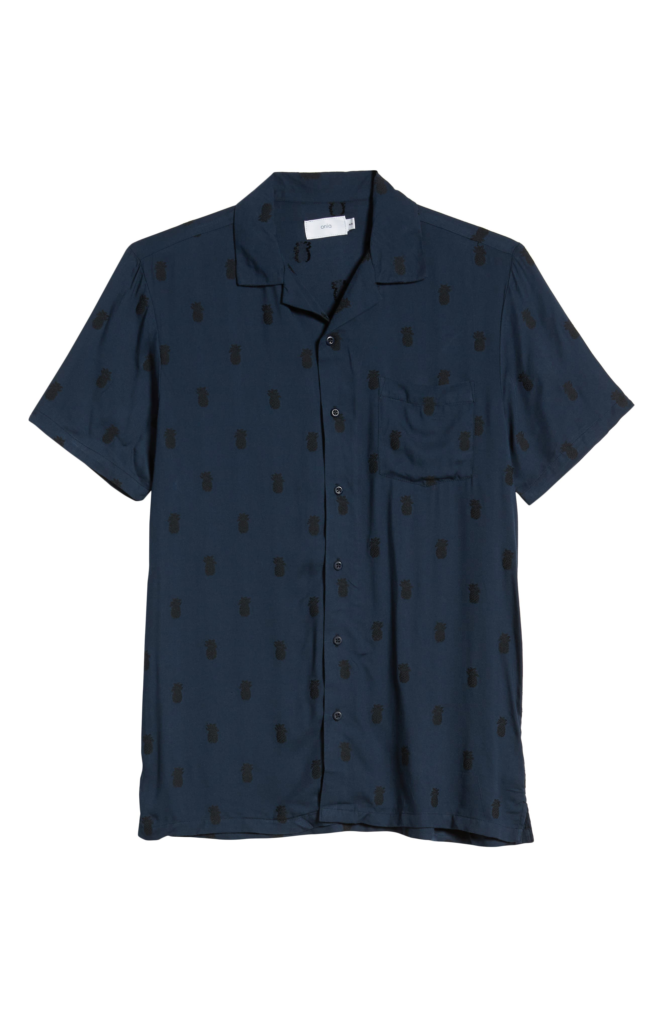 ,                             Pineapple Vacation Shirt,                             Alternate thumbnail 5, color,                             DEEP NAVY