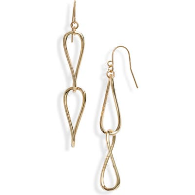 Sterling Forever Twisted Double Drop Earrings