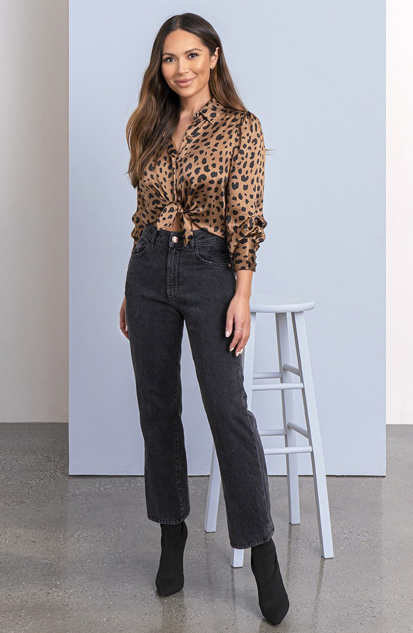 DL1961 x Marianna Hewitt Jerry High Waist Vintage Crop Straight Leg Jeans (Salina)
