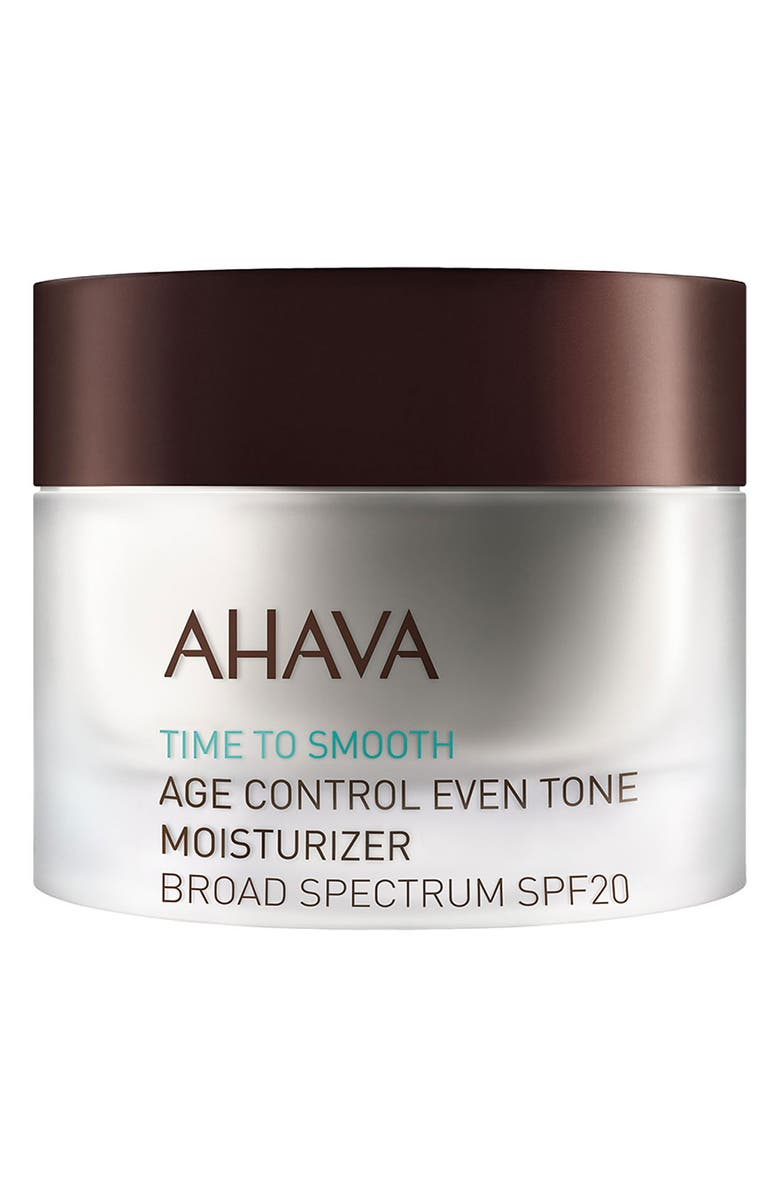 AHAVA 'Time to Smooth' Age Control Even Tone Moisturizer Broad Spectrum SPF 20, Main, color, 000