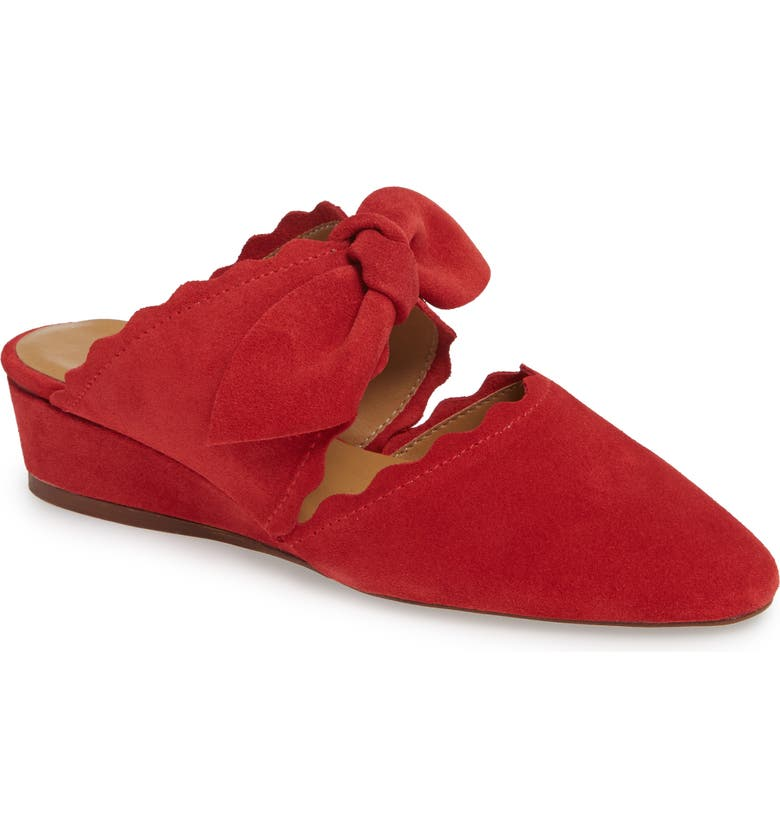 KLUB NICO Daisy Mule, Main, color, RED SUEDE