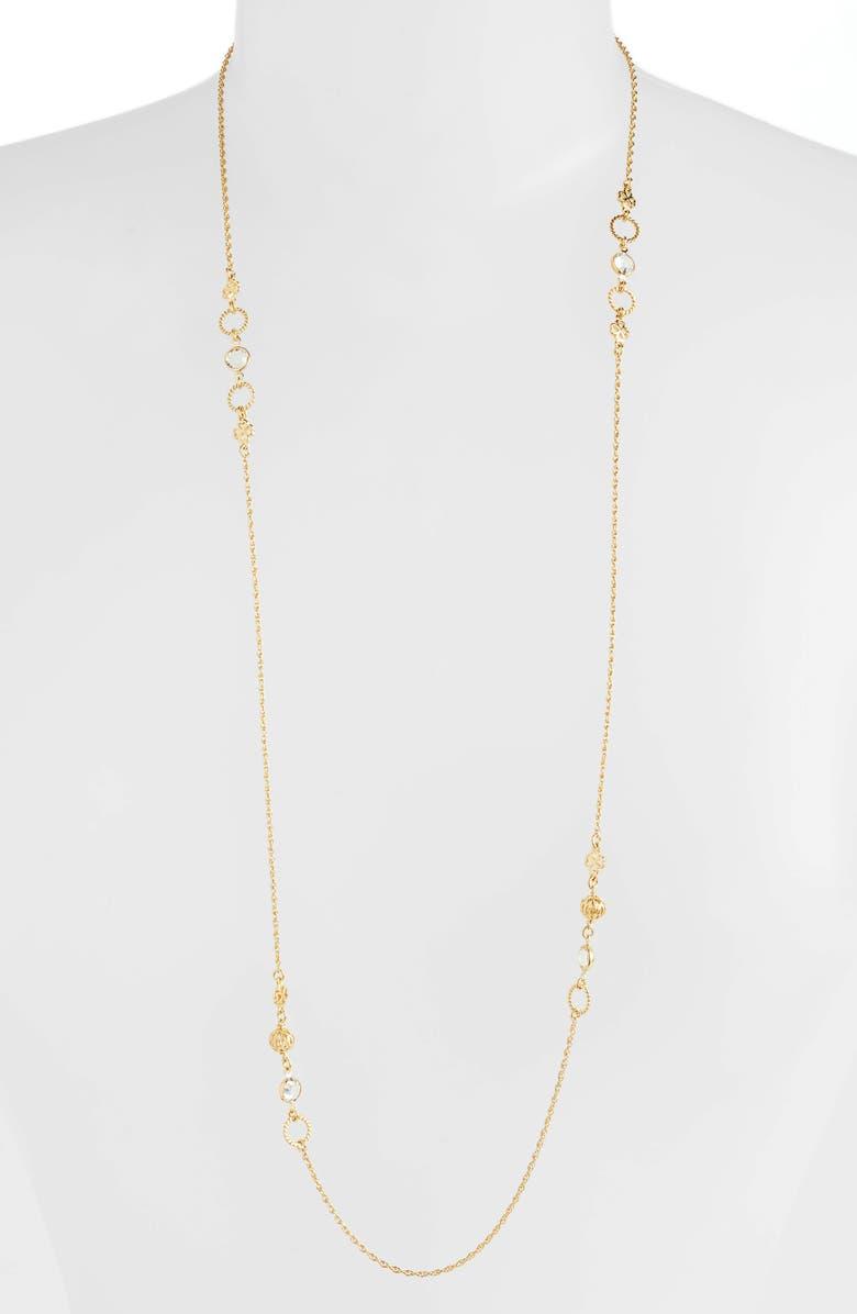GAS BIJOUX Tresse Long Lariat Necklace, Main, color, GOLD