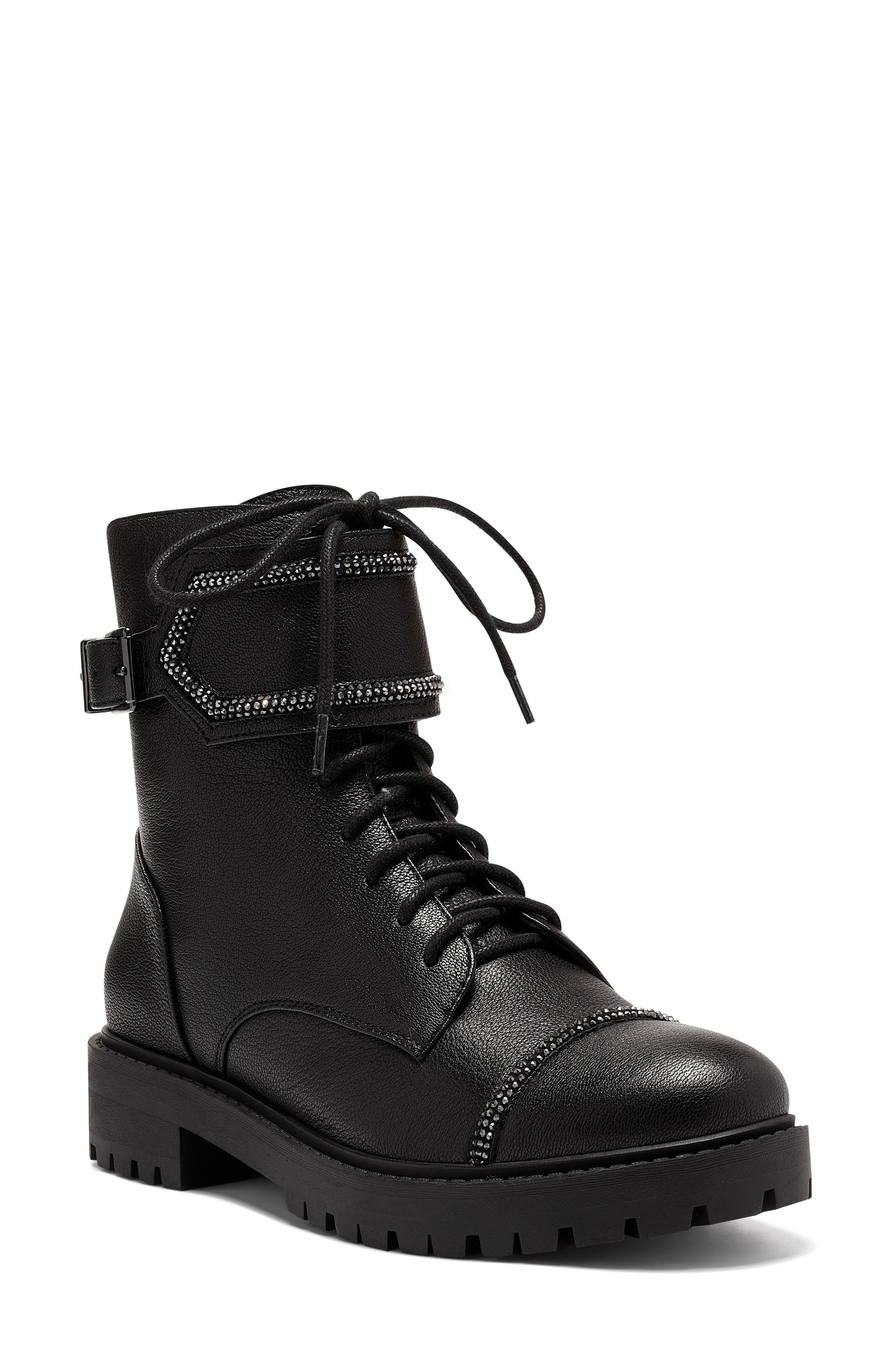 Karia Cap Toe Combat Boot