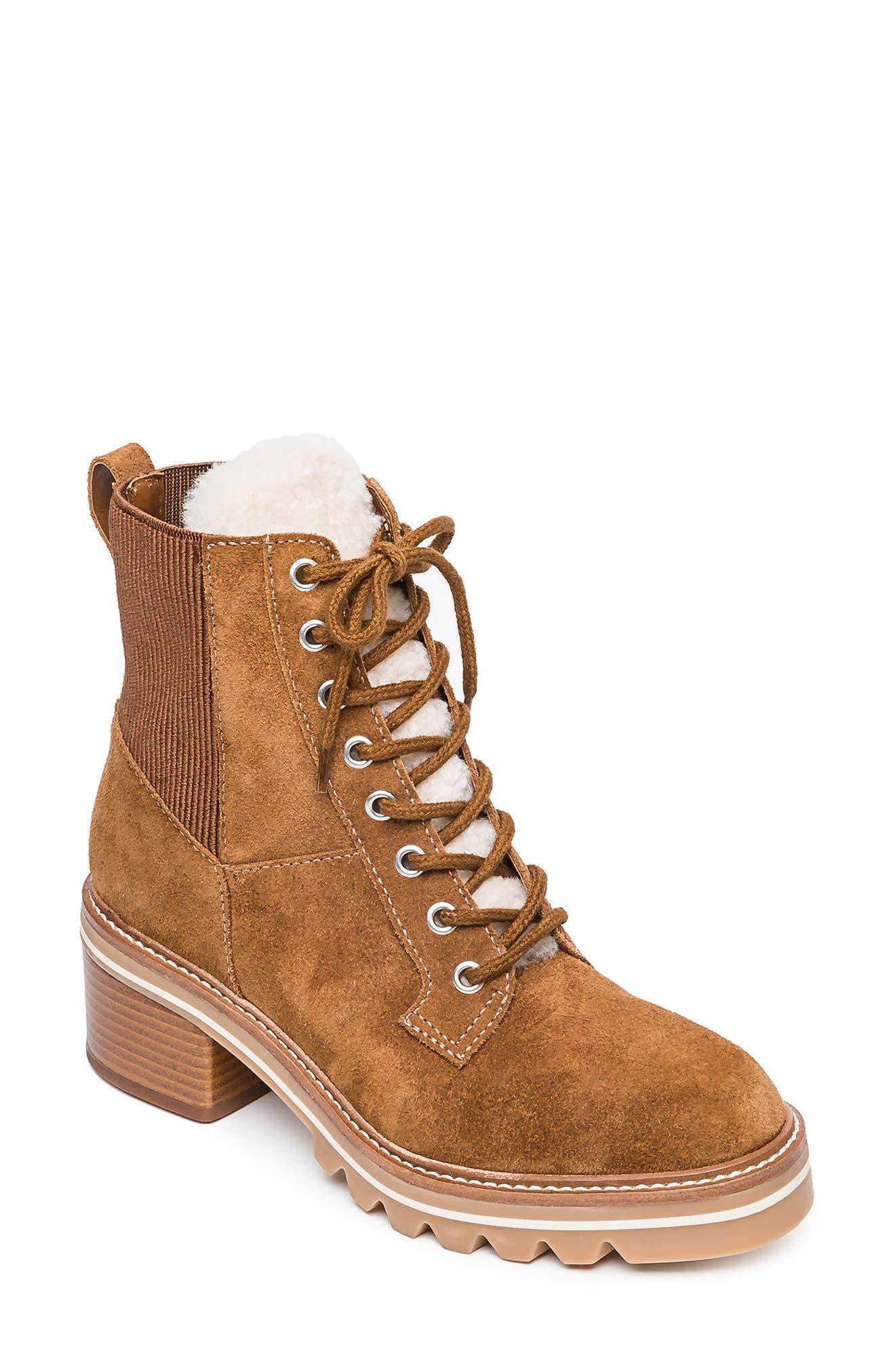 Selena Water Resistant Genuine Shearling Winter Boot