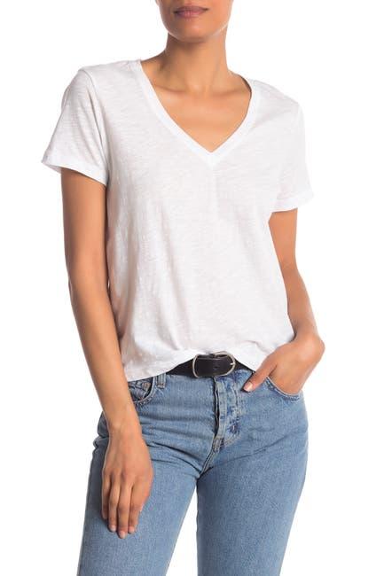 Image of Madewell V-Neck Short Sleeve T-Shirt