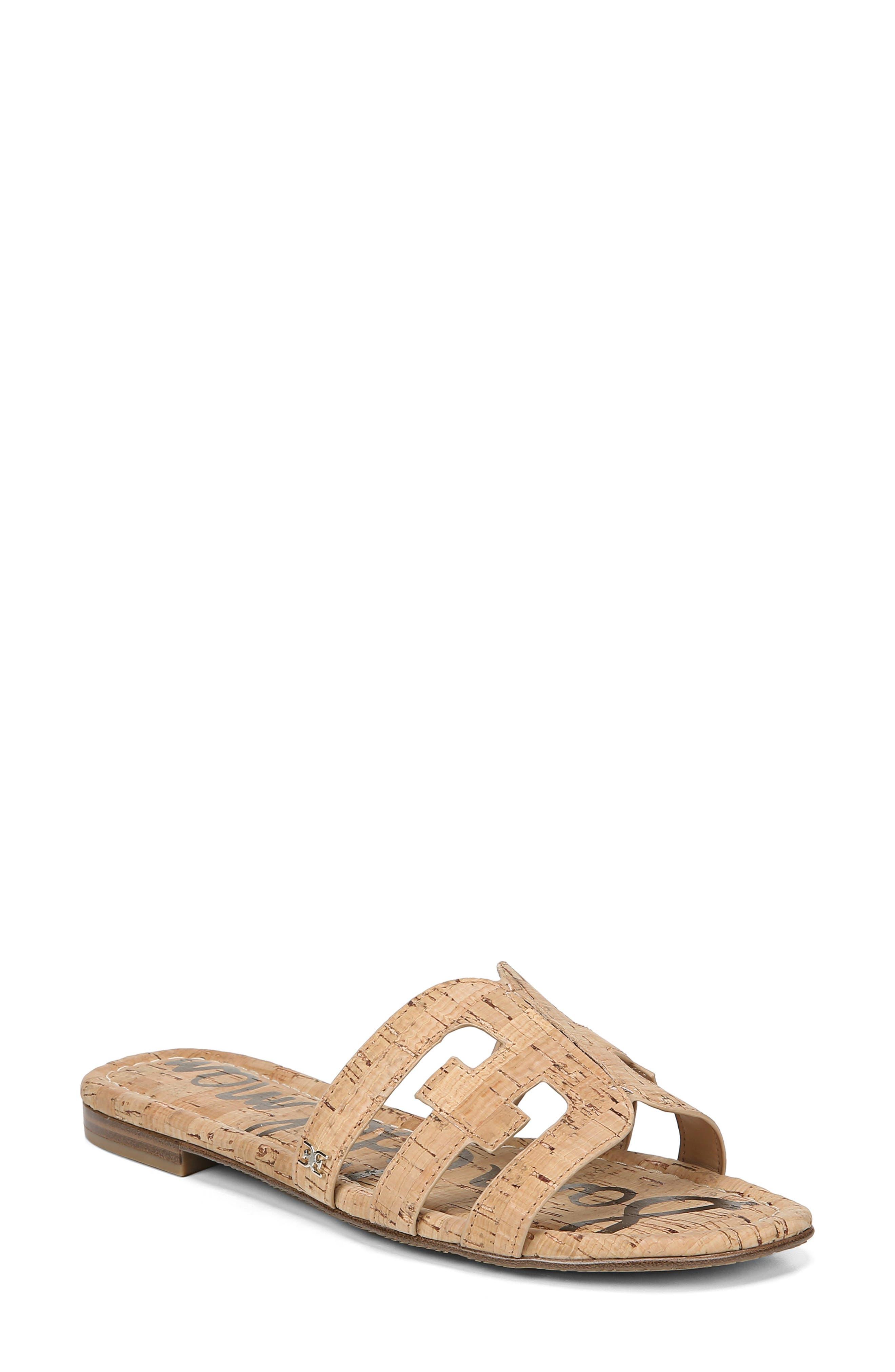 ,                             Bay Cutout Slide Sandal,                             Main thumbnail 1, color,                             NATURAL