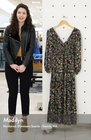 Brooke Smocked Long Sleeve Maxi Dress, sales video thumbnail