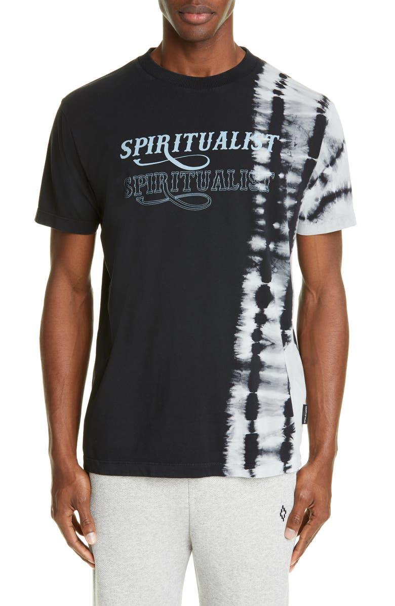 MARCELO BURLON Sphere Tie Dye Spiritualist Graphic T-Shirt, Main, color, BLACK MULTI