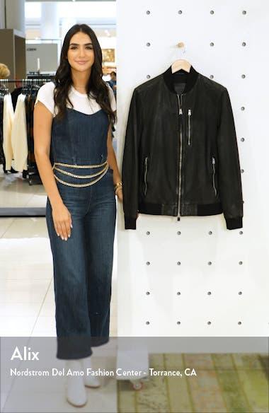 KINO Leather Bomber Jacket, sales video thumbnail