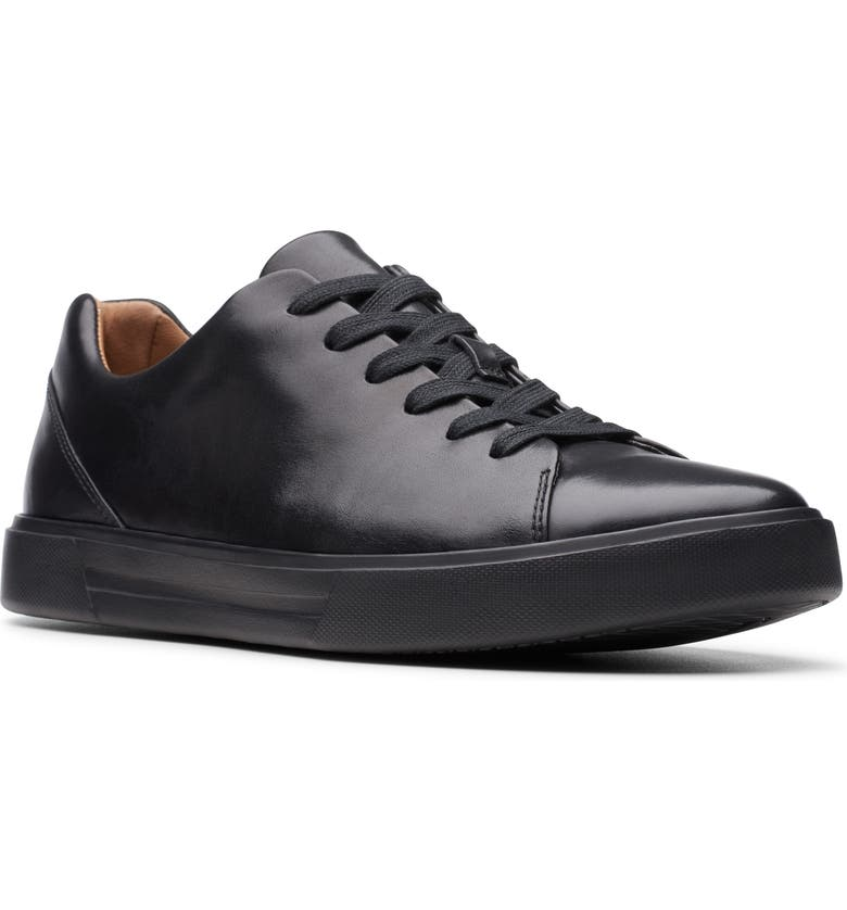 CLARKS<SUP>®</SUP> Un Costa Lace Up Sneaker, Main, color, BLACK LEATHER/ BLACK OUTSOLE