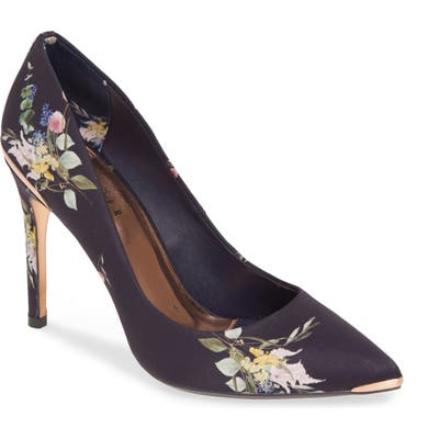 Ted Baker London Izibelp Floral Pointy Toe Pump - Blue