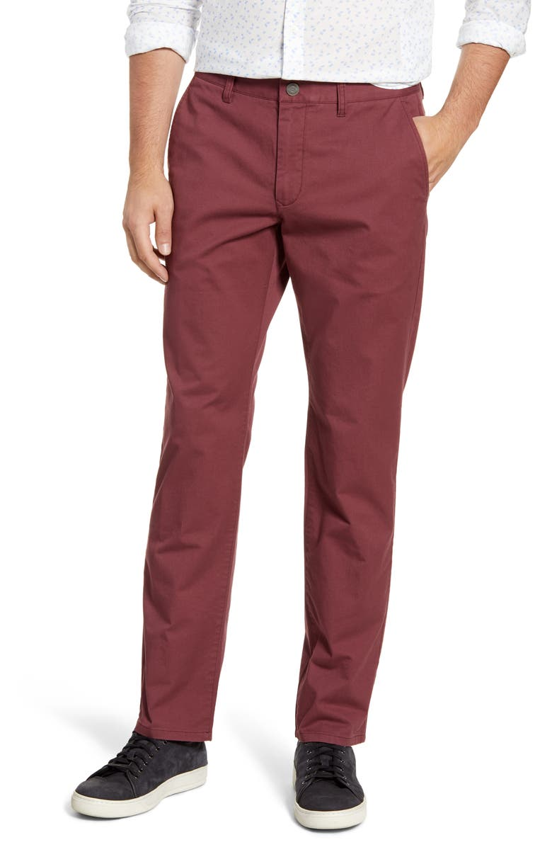BONOBOS Slim Fit Stretch Washed Chinos, Main, color, HIBISCUS TEA