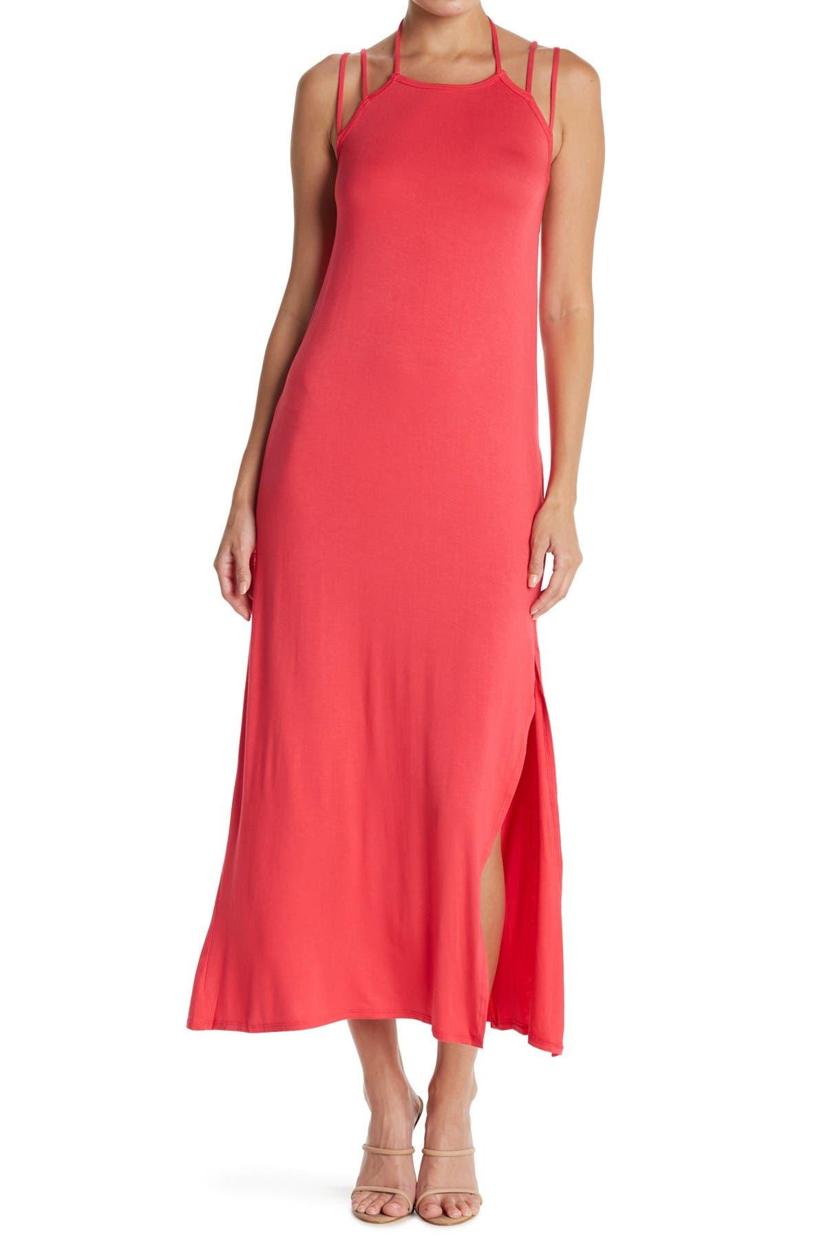 Image of Go Couture Strappy Apron Slip Midi Dress