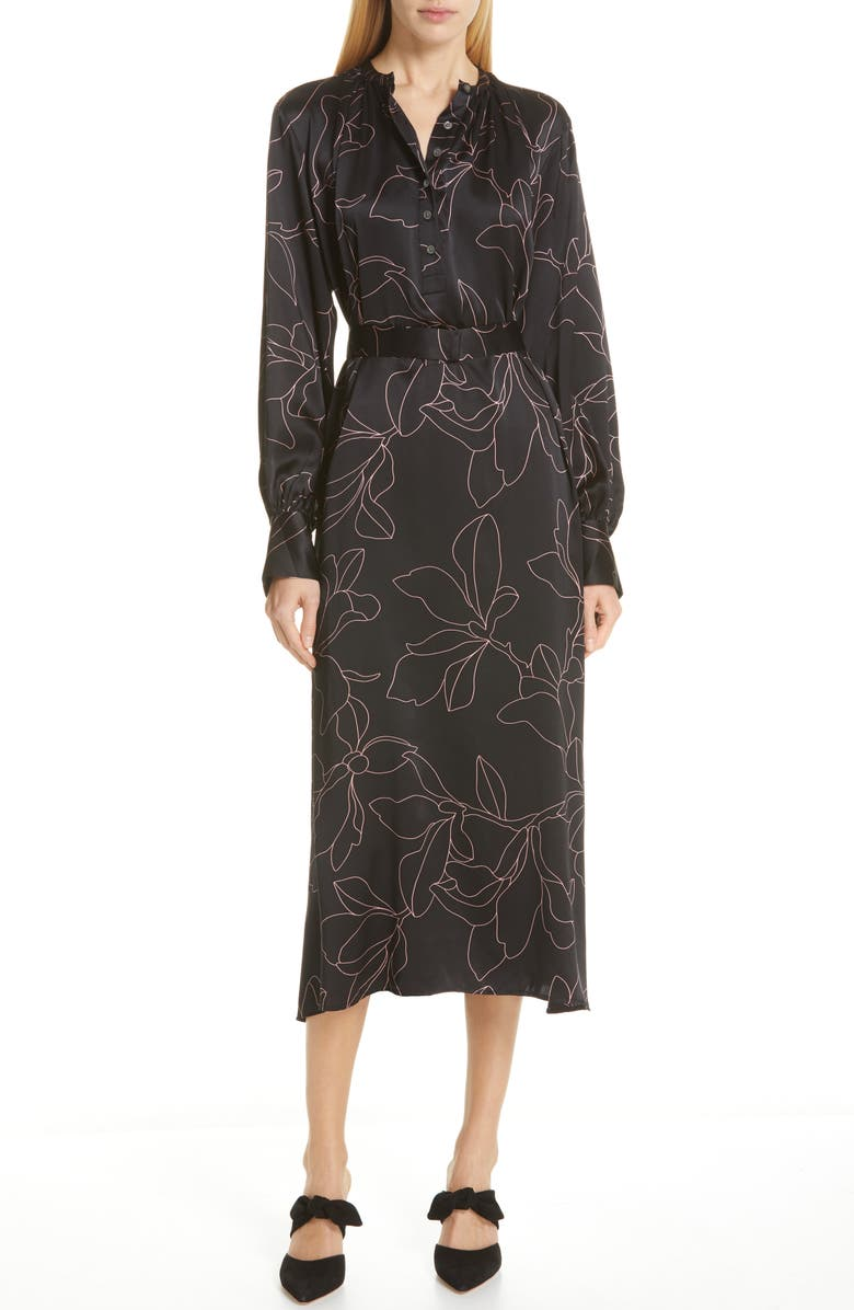 EQUIPMENT Alowette Silk Shirtdress, Main, color, 001