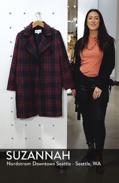 Brushed Plaid Coat, sales video thumbnail