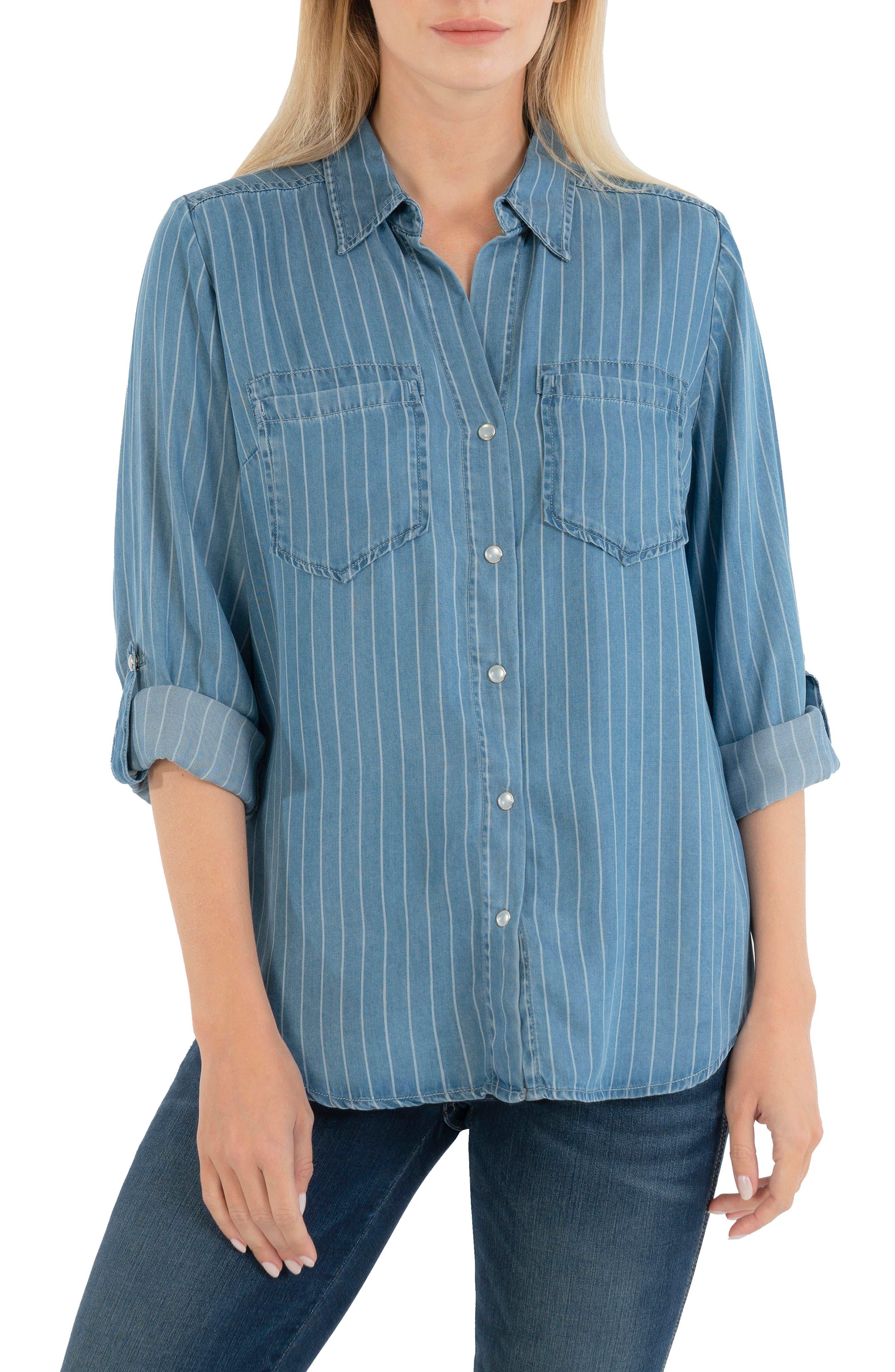 Hannah Stripe Button-Up Shirt
