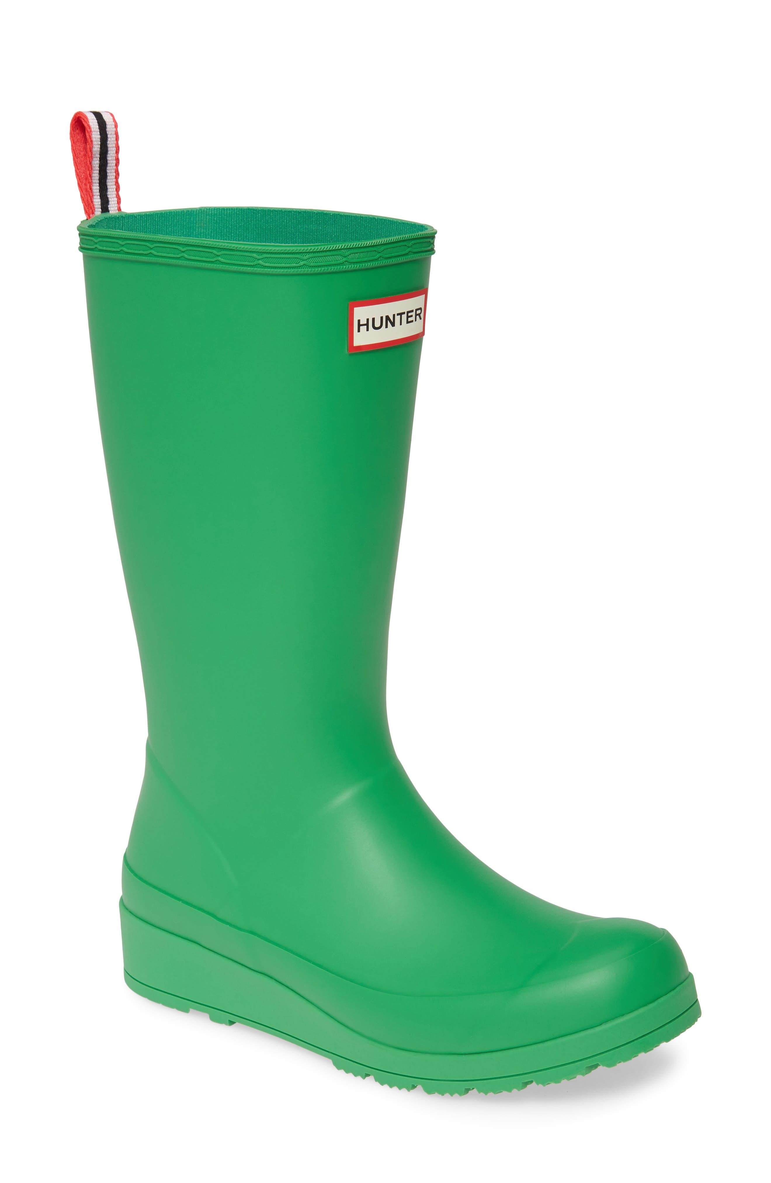 Hunter Original Play Tall Waterproof Rain Boot, Green