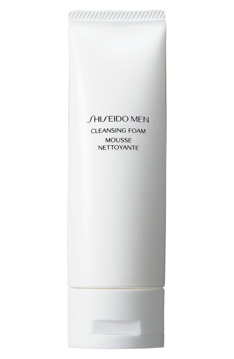 SHISEIDO Men Cleansing Foam, Main, color, NO COLOR