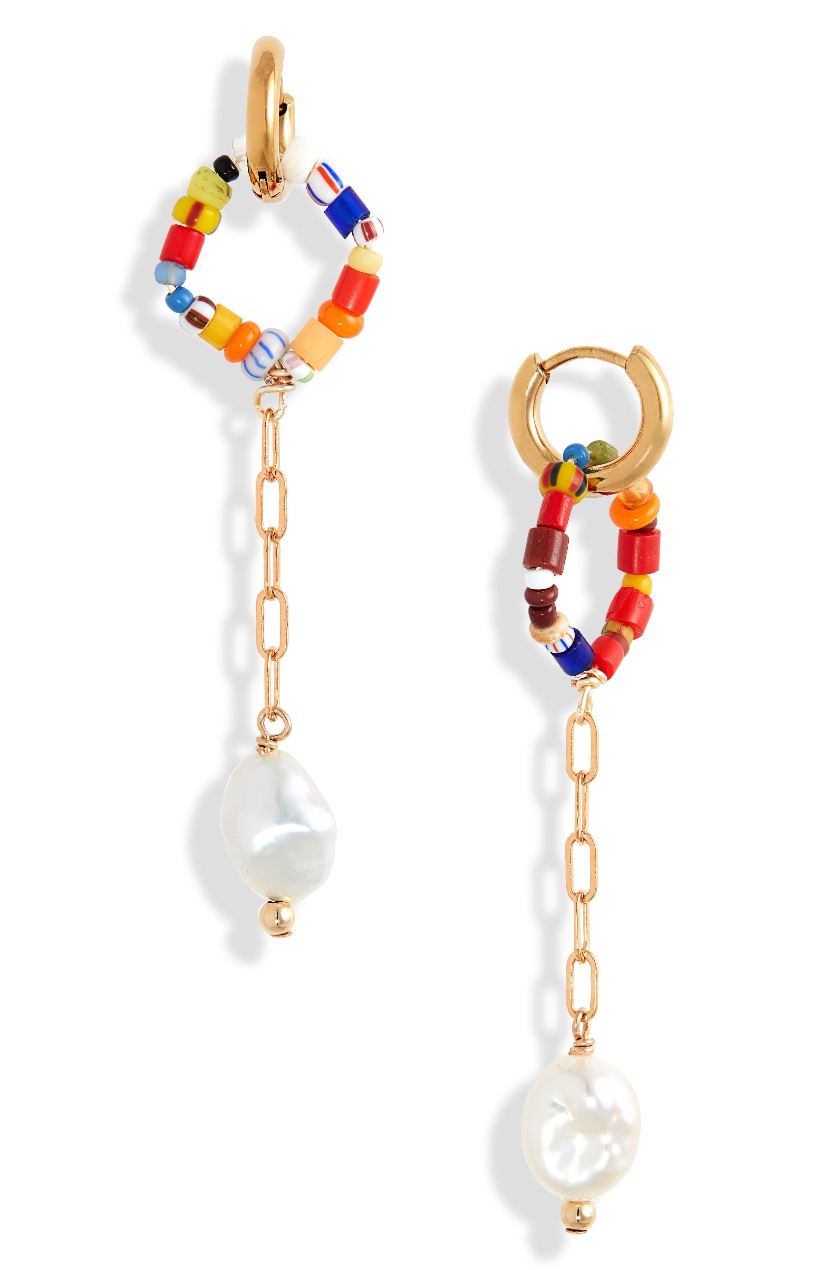 Women's Elious Sindy Genuine Pearl & Bead Drop Earrings (Nordstrom Exclusive)