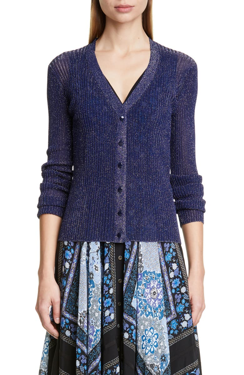 Altuzarra V Neck Metallic Cardigan
