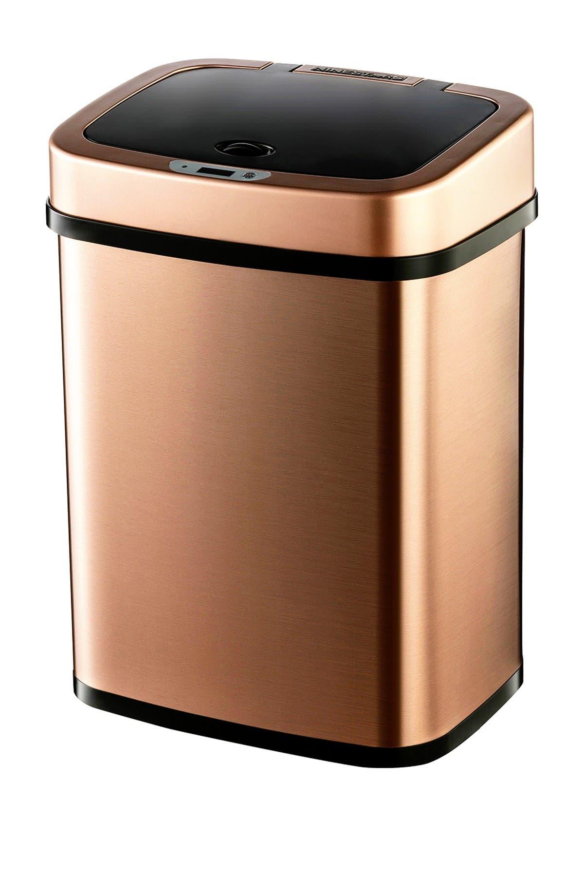 Image of NINESTARS Gold Motion Sensor Trash Can - 3.1 gallons
