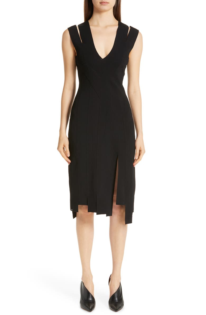 ALTUZARRA Carwash Hem Dress, Main, color, 001