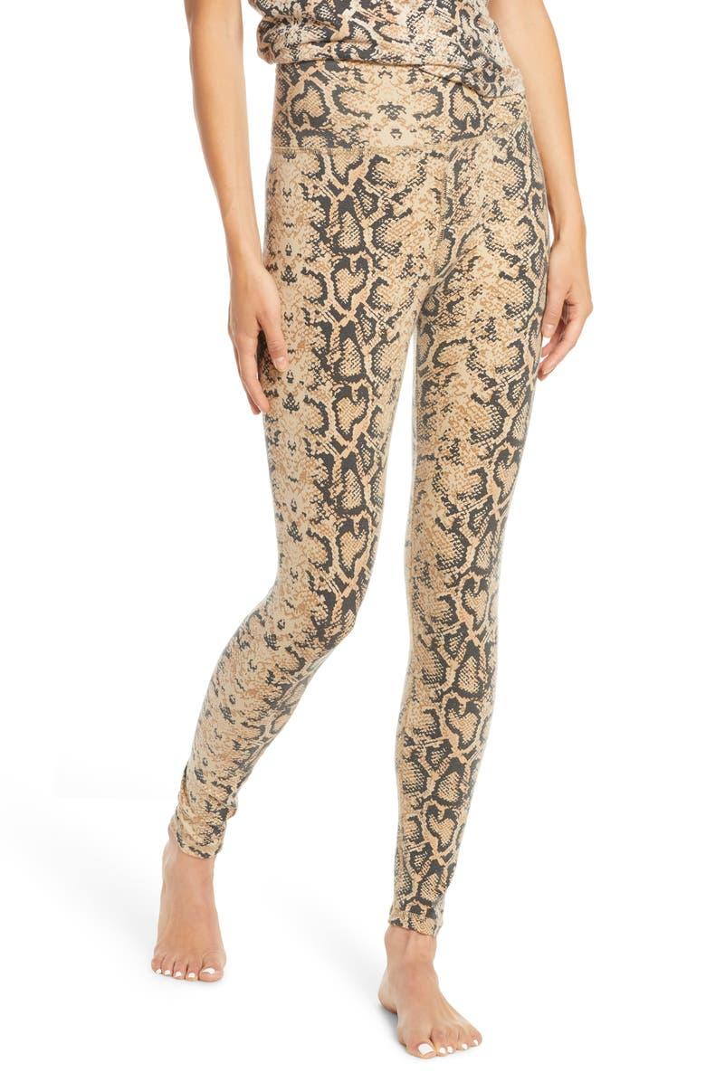 RAGDOLL Python Print High Waist Leggings, Main, color, BROWN PYTHON