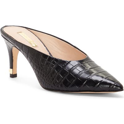 Louise Et Cie Karas Pointy Toe Mule Pump- Black