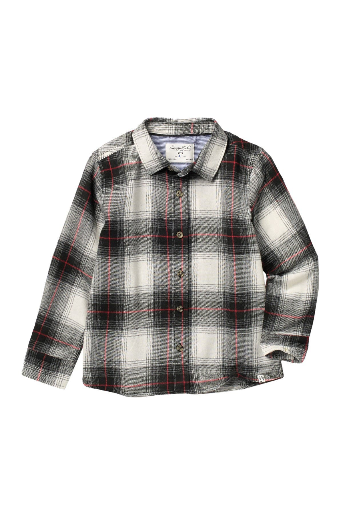 Image of Sovereign Code Angelo Plaid Flannel Shirt