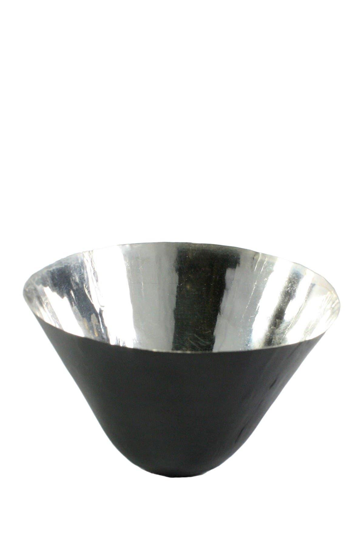 Image of HOMART Metal Black/Silver Conical Bowl
