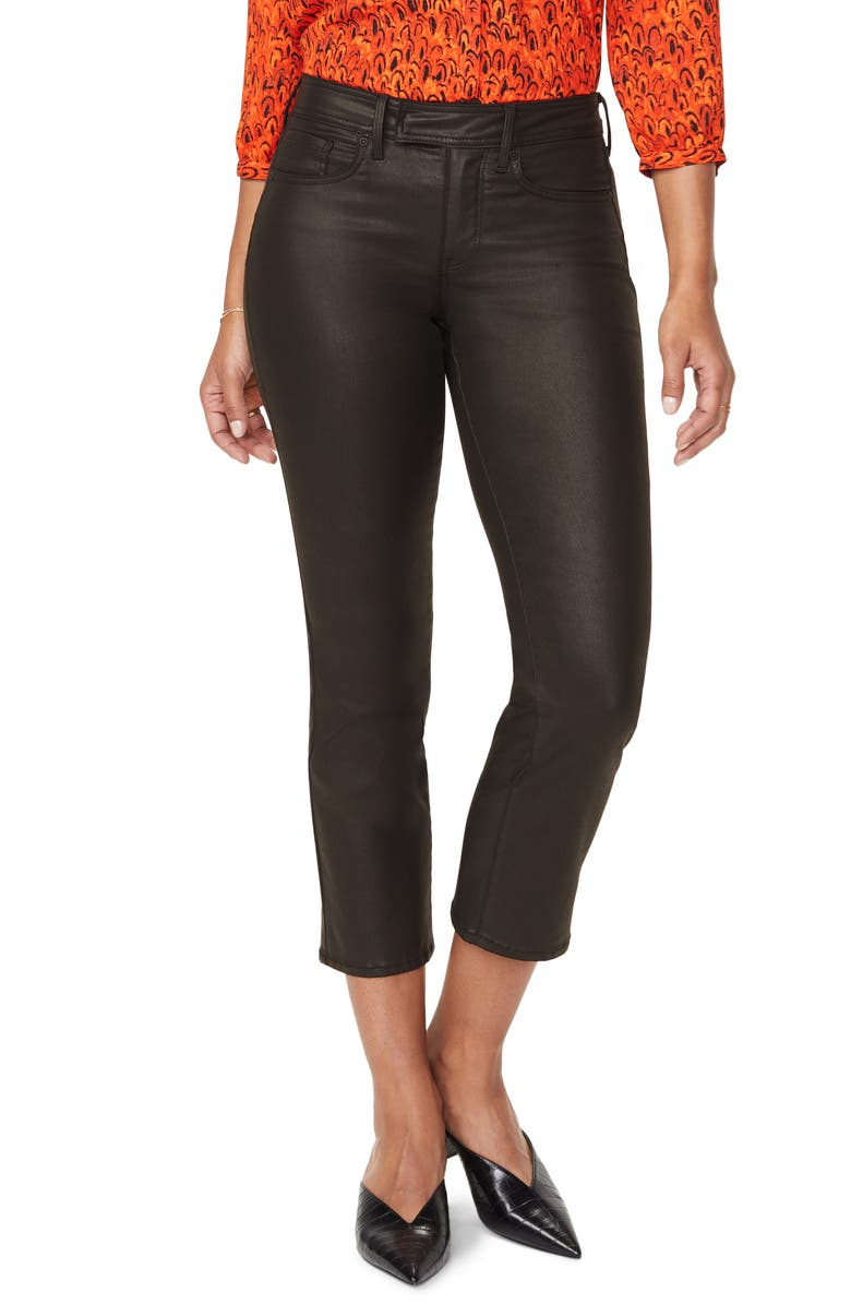 NYDJ Marilyn Stretch Straight Leg Ankle Jeans, Main, color, BLACK