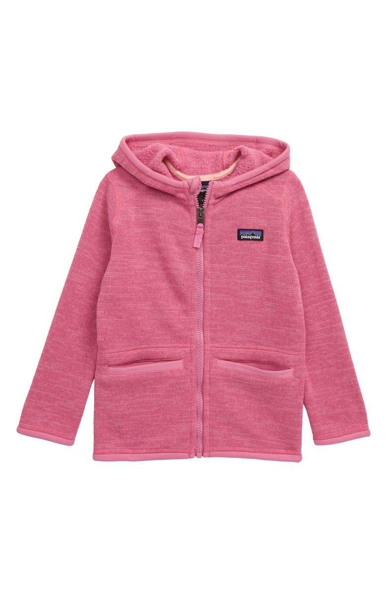 PATAGONIA Better Sweater<sup>®</sup> Recycled Fleece Hooded Jacket, Main, color, MARBLE PINK